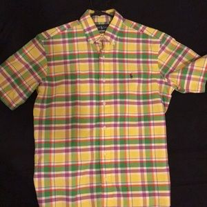 Plaid Polo button up
